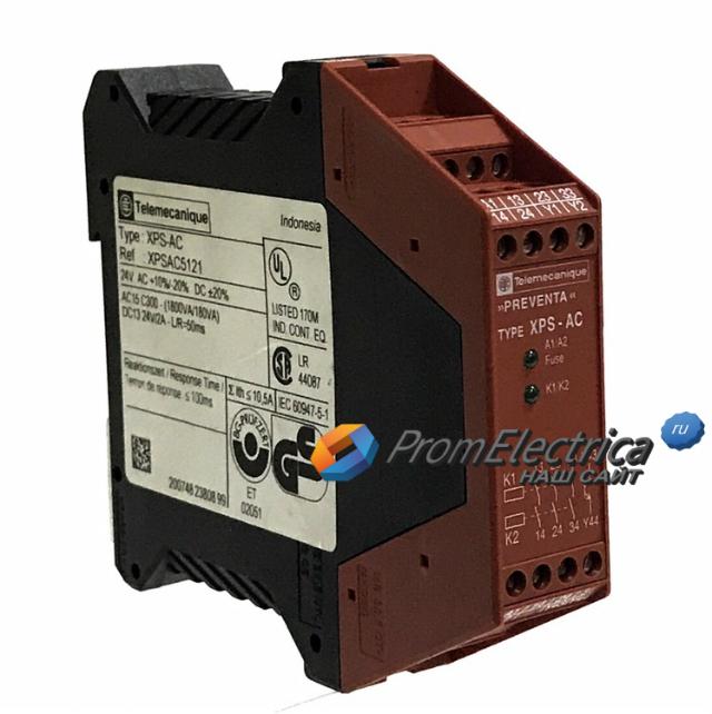 XPSAC5121 Модуль безопасности катушка 3 24В Schneider Electric